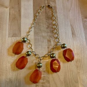 Cute orange necklace